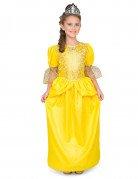 Gelbes Prinzessinnenkostüm für Mädchen
