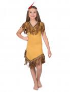 Indianerin Kinderkostüm gelb