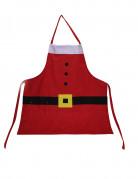 Weihnachtsmann-Schürze Weihnachtsaccessoire rot-weiss-schwarz
