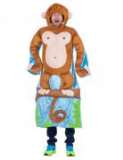 Lustiges Affenkostüm Affe auf Ast braun-blau