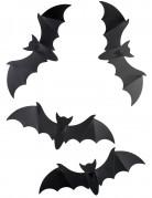 Halloween Dekoration Fledermäuse 12 Stück schwarz 15cm