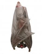 Halloween Hängefigur Fledermaus grau-rot 30cm