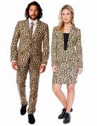 Opposuits™ Paaranzug Jaguar Raubkatzen-Motiv braun-beige