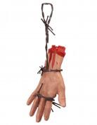 Blutige Hand auf Stacheldraht Halloween-Deko