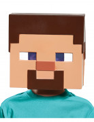 Minecraft™-Lizenzmaske Steve Videospielmaske hautfarben-braun