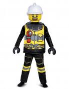Feuerwehrmann LEGO™ Deluxe-Kostüm für Kinder bunt