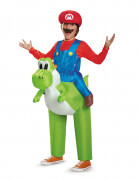 Aufblasbares Super Mario™ und Yoshi™ Carry-Me Nintendo™ Kostüm für Kinder bunt