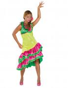Damenkostüm Rumba Tänzerin gelb