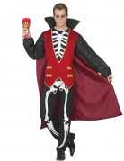 Vampir-Skelett Halloween-Herrenkostüm schwarz-rot-weiss