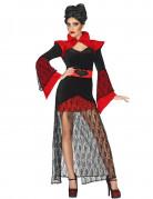 Damenkostüm elegante Vampirin schwarz-rot