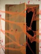 Spinnennetz mit Spinnen Halloween orange 20 g