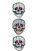 Dia de los Muertos Totenkopf-Hängedeko Halloween bunt 55cm