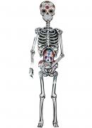Dia de los Muertos Dekoration Skelett-Karte 152 cm