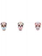 Tag der Toten Girlande Sugar-Skull-Girlande bunt 3m