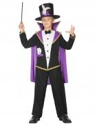 Zauberer-Kostüm für Kinder schwarz-violett