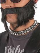 Punk Nietenhalsband Kostüm-Accessoire silber
