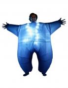 Morphsuits™ Party-Kostüm aufblasbar leuchtend für Erwachsene schwarz