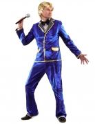 70er-Outfit Disco-Herrenkostüm blau-gold