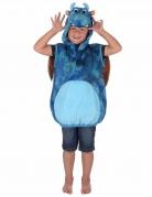 Süsser Drache Kinderkostüm blau-orange