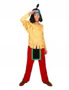 Indianer-Kinderkostüm Yakari™-Lizenzkostüm gelb-rot