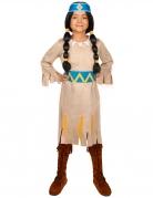 Indianerin Kinderkostüm Regenbogen Yakari™-Lizenzkostüm beige-blau