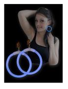 Leuchtende Ohrringe Kostüm-Accessoire blau