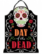 Sugar-Skull-Tragetasche DAY of the DEAD schwarz-bunt 40x30cm