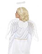 Weißer Engel mit Flügeln und Heiligenschein für Erwachsene