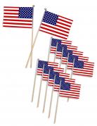 USA Flaggen Party-Picker 12 Stück blau-weiss-rot 11 x 7,5cm