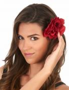 Rosenblüte Haarclip Kostümaccessoire rot