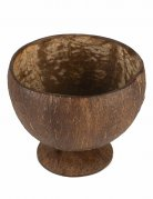 Hawaii Kokosnuss-Becher Mottoparty-Zubehör braun