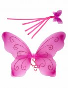 Feen-Prinzessin Kostümaccessoire-Set 2-teilig rosa-pink