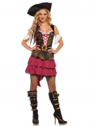 Kostüm sexy Barock-Piratin für Damen