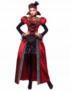 Halloween Damenkostüm viktorianische Vampirin rot-schwarz