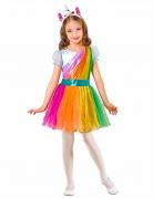 Kostüm Regenbogen-Einhorn für Mädchen