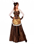 Steampunk Barock-Kostüm Edelfrau braun
