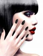 Künstliche Fingernägel selbstklebend 12 Stück schwarz
