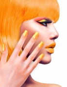 Künstliche Fingernägel orange