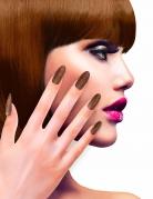 Glitzernde Fingernägel Künstliche Fingernägel kupfer