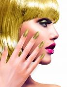 Künstliche Fingernägel selbstklebend 12 Stück gold