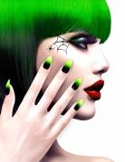 Halloween-Fingernägel für Hexen Künstliche Fingernägel schwarz-grün