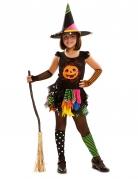Halloween-Kostüm Kürbishexe für Mädchen
