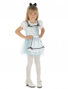 Märchenkostüm für Mädchen Karneval blau-weiss