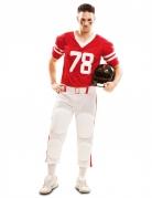 Kostüm Amerikanischer Football-Spieler für Herren rot