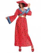 Kostüm Chinesin für Damen rot