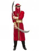 Arabischer Krieger-Kostüm für Herren rot-goldfarben