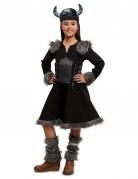 Kostüm Wikingerin für Mädchen schwarz