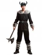 Kostüm Wikinger für Herren schwarz