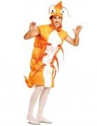 Garnelenkostüm orange-weiss