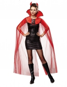 Halloween Cape mit Kragen rot